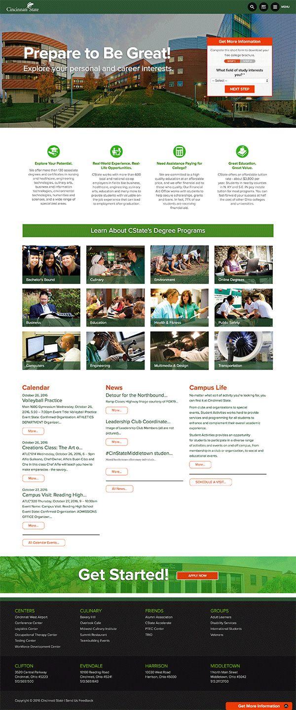LWEBG built a new Drupal 7 website for Cincinnati State College
