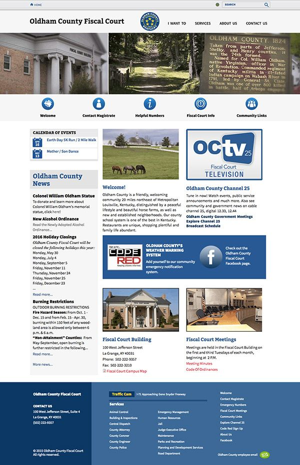 Oldham County Government Website