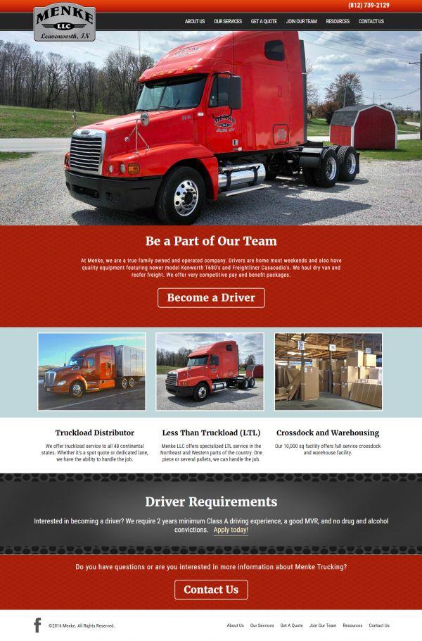 Menke Trucking   Louisville Web Group